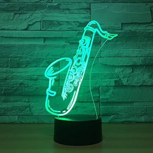 3D Optische Illusions-Lampen Trompete 7 Farben Erstaunliche Optische Täuschung Die Schlafzimmer-Dekoration Für Kinder Weihnachten Halloween-Geburtstagsgeschenk Beleuchten