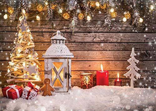 AIIKES 8x6FT/2,4x1,8M Kunst Tuch Weihnachtsbaum Fotografie Hintergrund Weihnachten Thema Fotografie Kulissen Prop Foto Studio Hintergrund 10-823 (6 1 2 Weihnachtsbaum)