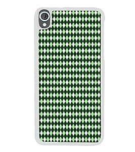 PrintVisa Designer Back Case Cover for HTC Desire 820 :: HTC Desire 820 Dual Sim :: HTC Desire 820S Dual Sim :: HTC Desire 820Q Dual Sim :: HTC Desire 820G+ Dual Sim (Texture Pattern Design Green Diamond)