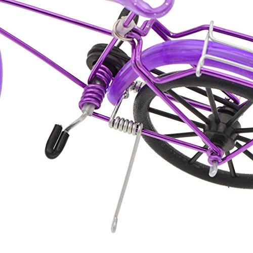 YNuth Mini Bicicletta Casa Delle Bambole Mobili Giardino Miniatura Accessori per Bambina Regalo Viola