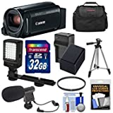 #6: Canon Vixia HF R800 1080p HD Video Camera Camcorder (Black) with 32GB Card + Battery & Charger + Case + Filter + Tripod + LED Light + Microphone Kit