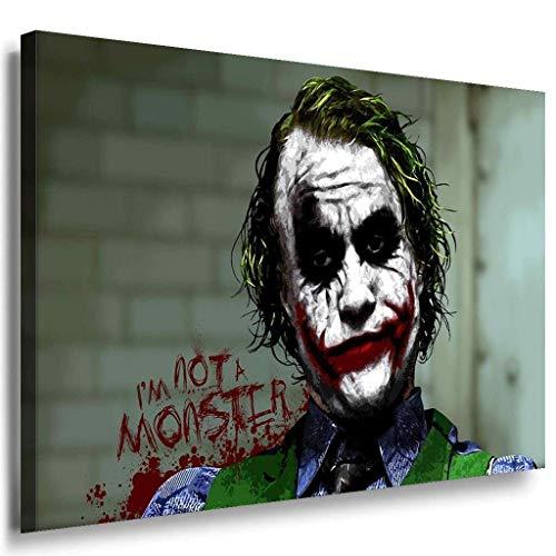 I am not a monster Joker Leinwandbild / LaraArt Bilder / Mehrfarbig + Kunstdruck XXL f04 Wandbild 80 x 60 cm
