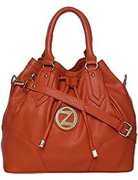 Osaiz Women's Handbag, Premium Stylish Bag, Material- Synthetic Leather (PU),Colors-Black)