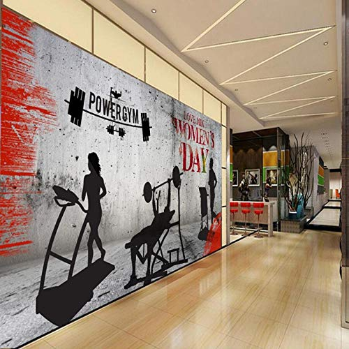 Individuelle Fototapeten Fitness-Studio Laufband Bodybuilding Tooling Hintergrund Wallpaper benutzerdefinierte High-Definition-Wandbilder250cmx175cm -