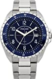 Police Miami Men's Quartz Watch with Blue Dial Analogue Display and Stainless Steel Bracelet 13669JS/03M