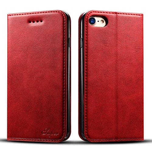 Flyeri Schutzhülle für iPhone 7 & 8, Leder, Flip Case, 1, 1