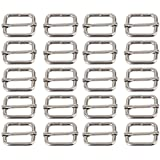 BQLZR Metal Sliding Bar Tri-glides Wire-formed Roller Pin Buckles Slider 25mm Strap Adjuster Pack of 20