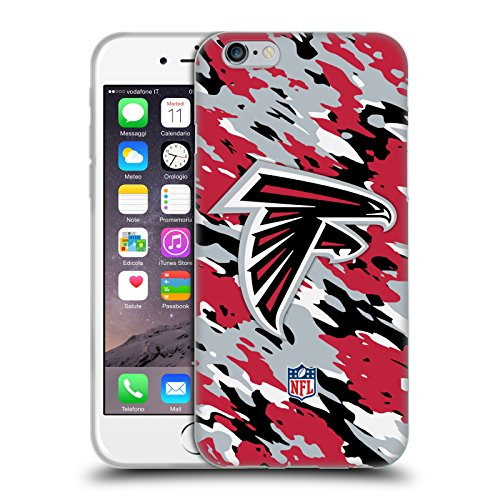Offizielle NFL Camou Atlanta Falcons Logo Soft Gel Hülle für Apple iPhone 6 / 6s Camou
