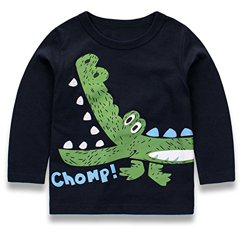 Tkria Little Boys Jumpers Kids Crocodile Sweaters Sweatshirt Pullover Clothing Shirts Casual Tops Cotton Tee Age 1 2 3 4 5 6 7