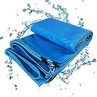 BAOFI Tarps Heavy Duty Waterproof 9x12, 17mil Blue Tarp Cover Waterproof with Grommets,Outdoor Durable PVC Knife Tarpaulin,6x6Feet/2x2m