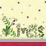 Zelltuch Serviette Christmas Gift Cream 33x33 cm, 250er Pck.