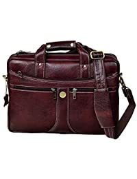 Hammonds Flycatcher Original Bombay Brown Leather 15.6 inch Laptop Messenger Bag (L=39,B=9, H=27 cm) LB164