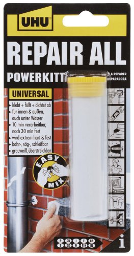 UHU 49040 Repair All Powerkitt Kleber, 2-Komponenten, 60 g