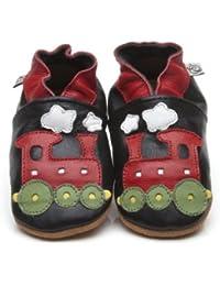 """Suaves Zapatos De Cuero Del Bebé """"Tren"""" 5-6 ans"""