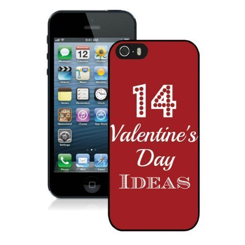 All Love Heart Happy Valentines Day Pictures Design Cases For Iphone 5 5S Black