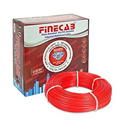 FINECAB PVC Insulated FR Wire 2.5 sq mm wire (Red)