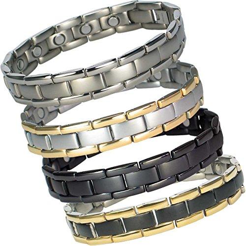 MPS Polaris Titan magnetische Armband mit Klappschließe + Frei Geschenkbeutel + Frei Werkzeug -, Um Links zu entfernen