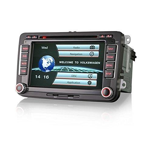 Freeauto Android 7.1 Nougat Car Autoradio Doppel-DIN-Bluetooth-Radio - Unterst¨¹tzung Fast Boot, GPS-Navigation, USB / SD, 3G 4G WIFI, Spiegel Link Backup-Kamera, DAB +, OBD2, DVR, SWC, USB SD (Autoradio Waze)