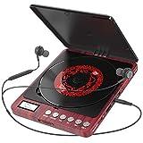 Tragbarer CD Player, Persönlicher Wiederaufladbar MP3 CD Player mit Doppelte 3.5mm Kopfhörern Buchse Disc Walkman mit stoßfester Schutz Für Kinder & Erwachsene - Home ,Auto & Reisen