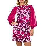 Kurzes Pailletten Kleid Für Damen , Pink In Gr. 42 bei Ital-Design