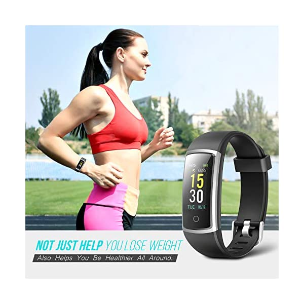 FITFORT Pulsera de Actividad Reloj Inteligente para Hombre y Mujer, IP68 Impermeable Reloj Deportivo con Rtmo Cardíaco, Presión Sanguínea, Sueño Monitor, Contador y Calorías para Android y iOS 3