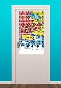 Folat Placa para Puerta Grande * Happy Birthday Disco Cumpleaños Infantil