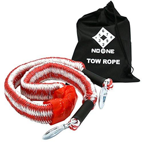 NoOne-Corda-di-traino-per-elastico-KTR003-Lunghezza-massima-4-metri-Peso-massimo-28-tonnellate-con-2-ganci-di-sicurezza-e-porta-portatile-libera-Bianco-e-Rosso