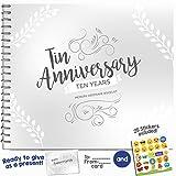 REGALO DE DECIMO ANIVERSARIO - Libro Personalizable Para Rellenar de Momentos Especiales y Regalarle a tu Esposo o Esposa Como Recuerdo del 10 Aniversario Juntos!