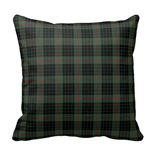 personalized-18x18-inch-square-cotton-pillowcases-gunn-clan-tartan-throw-pillow-covers-by-fashionpil