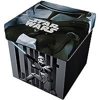 Preisvergleich für Star Licensing Disney Lucas Star Wars Ottomane mit Kissen, Polyester, mehrfarbig, 32x 32x 32cm