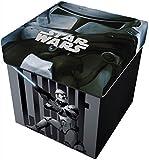 Star Licensing Disney Lucas Star Wars Ottomane mit Kissen, Polyester, Mehrfarbig, 32x 32x 32cm