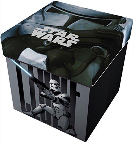 Prix Star Licensing Disney Lucas Star Wars Pouf récipient avec Coussin, Polyester, Multicolore, 32x 32x 32cm