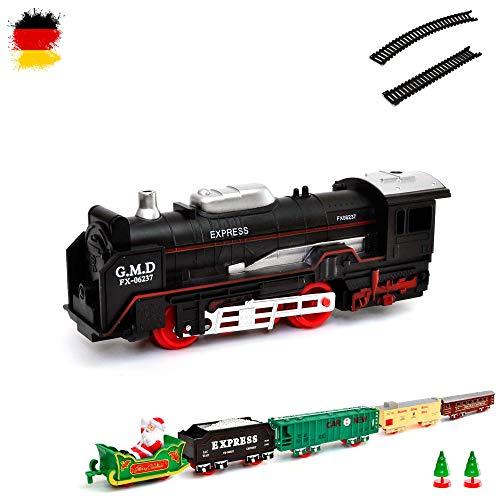 HSP Himoto Elektrische Eisenbahn Weihnachten Santa Claus Starter-Set, Zug, Dampf-Lok , Soundsimulation, Modell-Lokomotive, Komplett-Set inkl. Zubehör