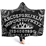 Henry Anthony Ouija Board Black Hoodie Decke Coral Plush Ultra Soft Plüsch Freizeit Wear Hooded Throw Wrap