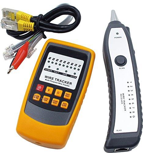tsnetworks Wire Tracker Netzwerktester, Kabelfinder, RJ45/RJ11 Finder, für Telefonkabel und LAN-Kabel, Leitungsdetektor Emitter