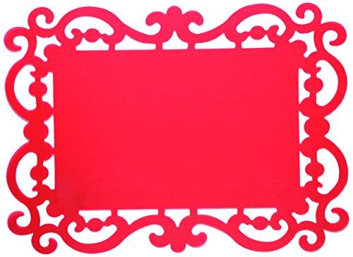 BITOSSI HOME BEF 31 Lot de 12 Sets de Table, 44x32cm, Rouge