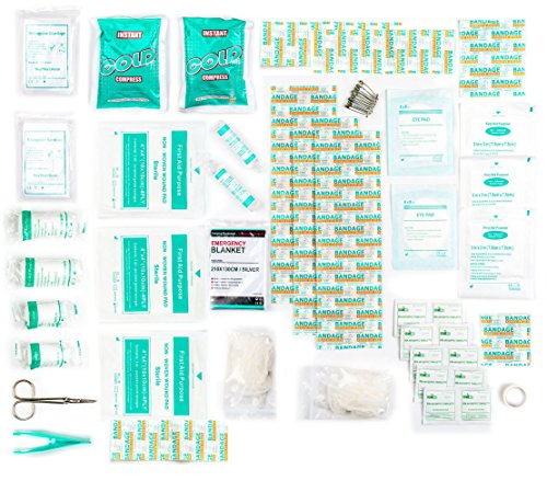 First Aid Kit 100 Piece Premium Kit Ideal for Camping, Home, Workplace, Office, Car, Caravan, Travel etc. 2 x Cold (Ice…