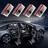 Car Door Welcome Light HD Logo Symbol Projector for Mercedes-Benz, Ground Laser Identification Light Courtesy Shadow Spotlight for GLC GLE GLS GLA A B E Class Plug&Play