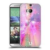 Head Case Designs Pink Und Magenta Galaxie Pastell Soft Gel Hülle für HTC One M8 / M8 Dual SIM