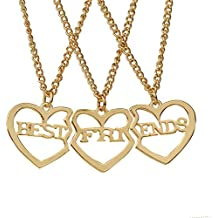 Fashion Wang ser eternas 2 Broken Heart Chain Mejores amigos amor colgante, collar de 2PCs