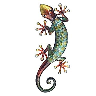 Art Deco Home - Wanddeko Gecko, Metall, 36 cm - 13050SG
