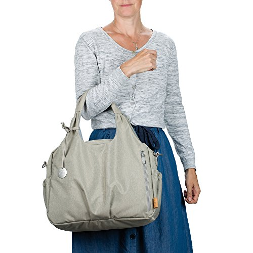 Lässig 1101003303 Wickeltasche Green Label Global Bag Ecoya, sand/beige - 4