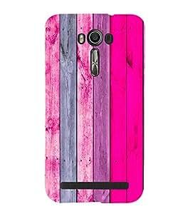 EPICCASE Pink wood Mobile Back Case Cover For Asus Zenfone 2 Laser ZE500KL (Designer Case)