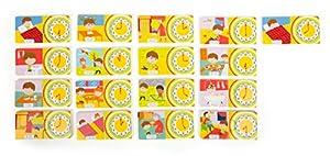 Small Foot 10678de Madera Rompecabezas de Aprendizaje, asignación de Veces y situaciones, práctico y Colorido, de Piezas de Puzzle playfully Aprender el Tiempo, fomenta la motricidad Fina y discurso
