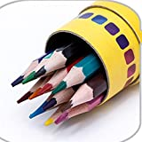 BaBaSM Lebhaft 18 Farbe Set Zeichnung Bleistift Skizzieren Bleistift für Kinder Erwachsene, Künstler & Sketchers Geschenk für die Schule Saison