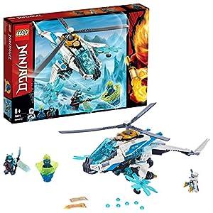 LEGO NINJAGO ShuriCottero, Giocattolo Elicottero Ninja con 3 Minifigure, Playset Masters of Spinjitzu, 70673  LEGO
