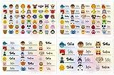 Kigima 114 Aufkleber Sticker Namens-Etiketten rechteckig Sofia Verschiedene Größen und Tiermotive