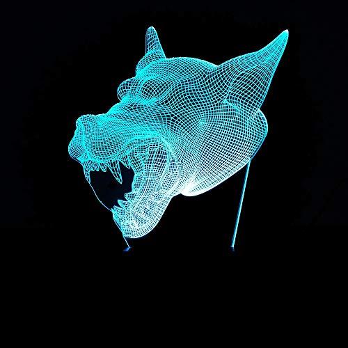 ion Colorable Werwolf Kopf Nachtlicht Touch-Taste Mädchen Weihnachten Halloween Geburtstagsgeschenk ()