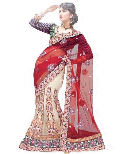 Triveni Net Saree (Tsmh6227 _Multi-Coloured)