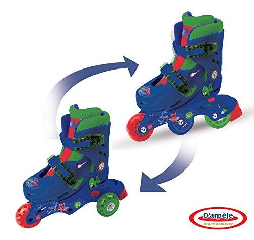 D\'arpeje Outdoor OPJM084 Pyjamasques 3 Wheels-2 in 1 Ajustable inliner-Skates